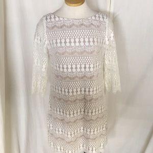 Eliza J Lace Overlay Dress
